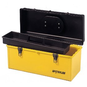 Show details of Waterloo HP2051 20-Inches Long by 8-1/2-Inch Wide by 8-3/4-Inch High Plastic Tool Box with Tray.