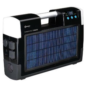 Show details of Xantrex Technologies 852-2071 Xpower AC/DC Powerpack Solar With 400 Watt Inverter, Two AC Outlets, USB Port, And Digital Display.