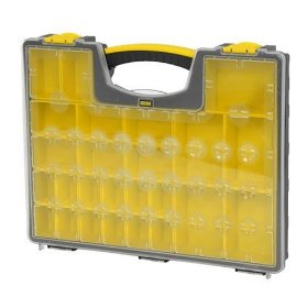 Show details of Stanley Consumer Storage 014725R 25 Removable Compartment Professional Organizer.