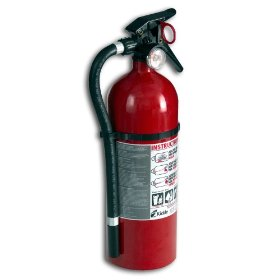 Show details of Kidde 21006704 Full Home Disposable Fire Extinguisher 3A40BC, FX340GW, Red.