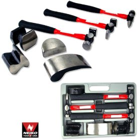 Show details of Heavy Duty Professional 7-Piece Auto Body Hammer & Dolly Kit.