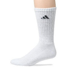 Show details of adidas Men's 6-Pack Crew Athletic Socks.