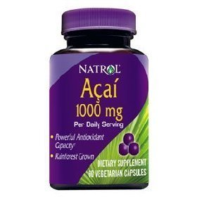 Show details of Natrol Acai Berry 1000mg per daily serving - 60 caps.