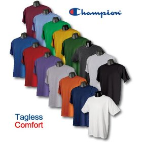 Show details of Champion 6.1 oz Cotton Tagless T-shirt.