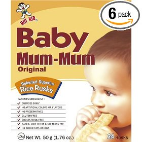 Show details of Hot Kid Baby Mum-Mum Original Rice Rusk, 1.76-Ounce Box Package of 24 (Pack of 6).