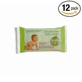 Show details of Seventh Generation Baby Wipes Travel Packs, Chlorine Free and Unscented, 40-Count Packages (Pack of 12)(480 Wipes).