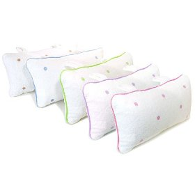 Show details of Spa Sister Terry Bath Pillows with Embroidered Dots.