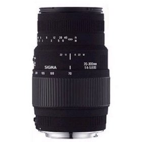 "Show details of Sigma 70-300mm f/4-5.6 DL-M ""Motorized"" DG Macro Telephoto Zoom Lens with Built-in Motor Drive for Nikon SLR Cameras Including D40, D40X, & D60."