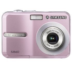 Show details of Samsung S860 8.1MP Digital Camera with 3x Optical Zoom (Pink).