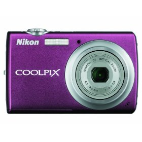 Show details of Nikon Coolpix S220 10MP Digital Camera with 3x  Optical Zoom and 2.5 inch LCD (Plum).