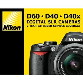 Show details of Nikon 2 - Year Extended Service Coverage Agreement for the Nikon D40,D40x and D60 Digital SLR Cameras.