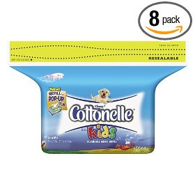 Show details of Cottonelle For Kids Folded Moist Wipes Refills, Case Pack, Eight  84-Count Packs (672 Wipes).