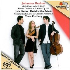 Show details of Brahms: Violin Concerto and Double Concerto [SA-CD - CD compatible] [HYBRID SACD] .