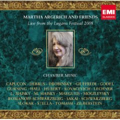 Show details of Martha Argerich and Friends Live from the Lugano Festival 2008.