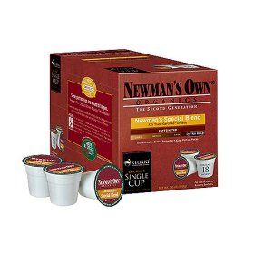 Show details of Newman's Own K-Cup Single-Serving Coffee 108-ct. - Organic Special Blend.
