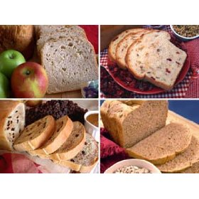 Show details of The Fruit and Nut Collection: A Sampler Pack of Bread Machine Mixes (4 Pack).