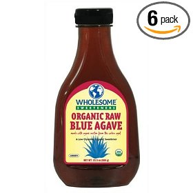 Show details of Wholesome Sweeteners Organic Raw Blue Agave, 23.5-Ounce Bottles (Pack of 6).