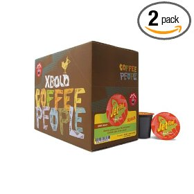 Show details of Coffee People K-Cup Dark Roast, Extra Bold Jet Fuel, 24-Count Boxes (Pack of 2).
