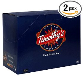 Show details of Timothy's World Coffee, French Roast, K-Cups for Keurig Brewers, 24-Count Boxes (Pack of 2).