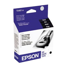 Show details of Epson T048120 Black Ink Cartridge (Stylus Photo R300, R300M, and RX500 Printers).