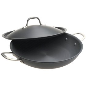 Show details of Calphalon Commercial Hard-Anodized 12-Inch Everyday Pan with Lid.