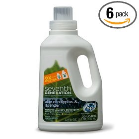 Show details of Seventh Generation 2x Liquid Laundry Detergent, 32-Ounce Bottles (Pack of 6).