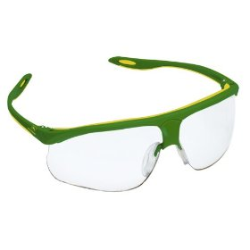 Show details of John Deere Clear Safety Glasses with Two-Tone Frame #93100.