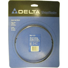 Show details of Delta 28-177 9-Inch Band Saw Blade 1/4-Inch x 59-1/2-Inch, 6 Teeth per Inch.