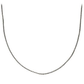 "Show details of Sterling Silver 2mm Italian Rolo (Belcher) Chain Necklace, 16""."