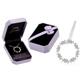 Show details of MOM Forever Crystal Infinity Circle Necklace - Gift Boxed.