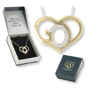 Show details of Crystal God's Heart Necklace Gift Boxed.