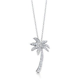 Show details of Sterling Silver Designer-Inspired CZ Palm Tree Pendant.