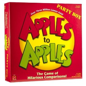 Show details of Apples to Apples Party Box - The Game of Hilarious Comparisons.
