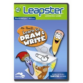 Show details of LeapFrog�  Leapster� Learning Game: Mr. Pencil's Learn to Draw and Write.