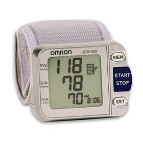 Show details of Omron HEM-650 Wrist Blood Pressure Monitor with APS (Advanced Positioning Sensor).