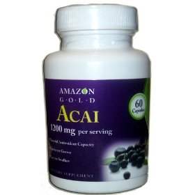 Show details of Acai Berry Fruit Capsules- Easy to Swallow- Amazon Gold-now with 1200 Mg Per Serving-60 Capsules- Powerful Antioxidant- Great for Diet & Weight Loss.