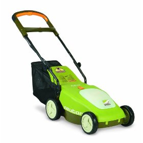 Show details of Neuton CE 5.2 14-Inch 24-Volt Cordless Electric Discharge/Mulching/Bagging Lawn Mower With Removable Battery.