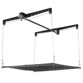 Show details of Racor PHL-1R Pro HeavyLift 4-by-4-Foot Cable-Lifted Storage Rack.