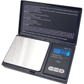 Show details of American Weigh AMW-100 Precision Digital Pocket Scale 1543 x 0.1 grain and 100 x 0.01 gram Silver.