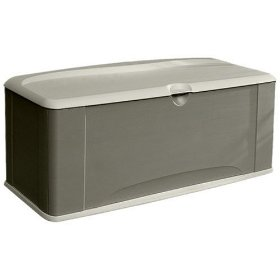 Show details of Rubbermaid 5E39 Extra Large Deck Box with Seat.