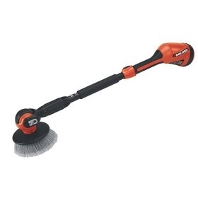 Show details of Black & Decker NPS1018 18-Volt Cordless Electric Power Scrubber with 14-Foot Reach.